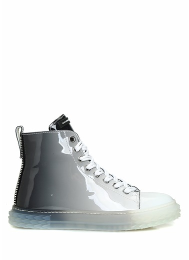Giuseppe Zanotti Giuseppe Zanotti   Logolu Kadın Deri Sneaker 101624556 Gri